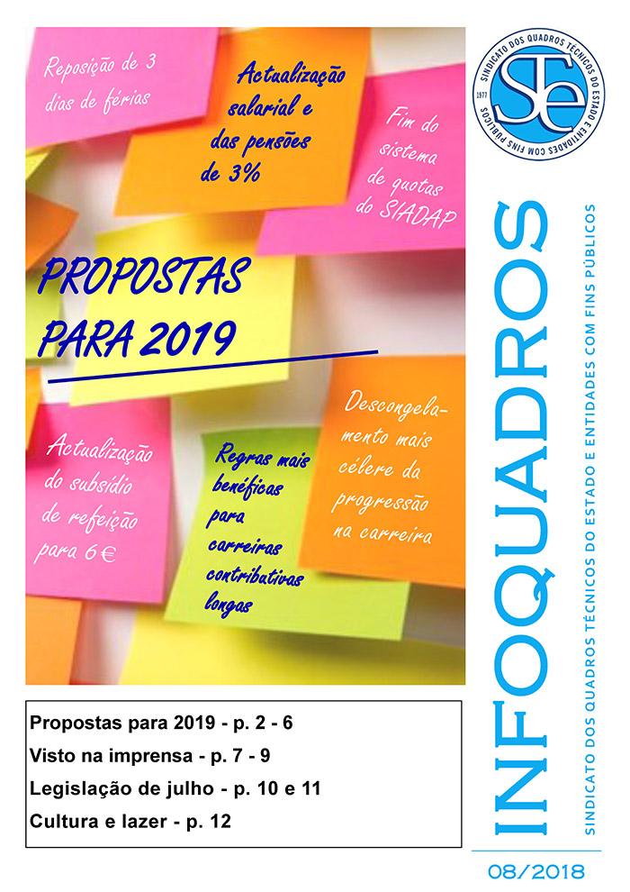 Infoquadros Agosto 2018