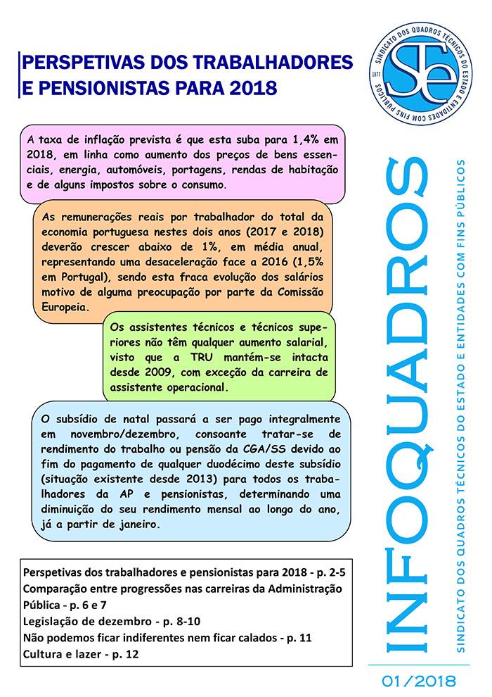 Infoquadros Janeiro 2018