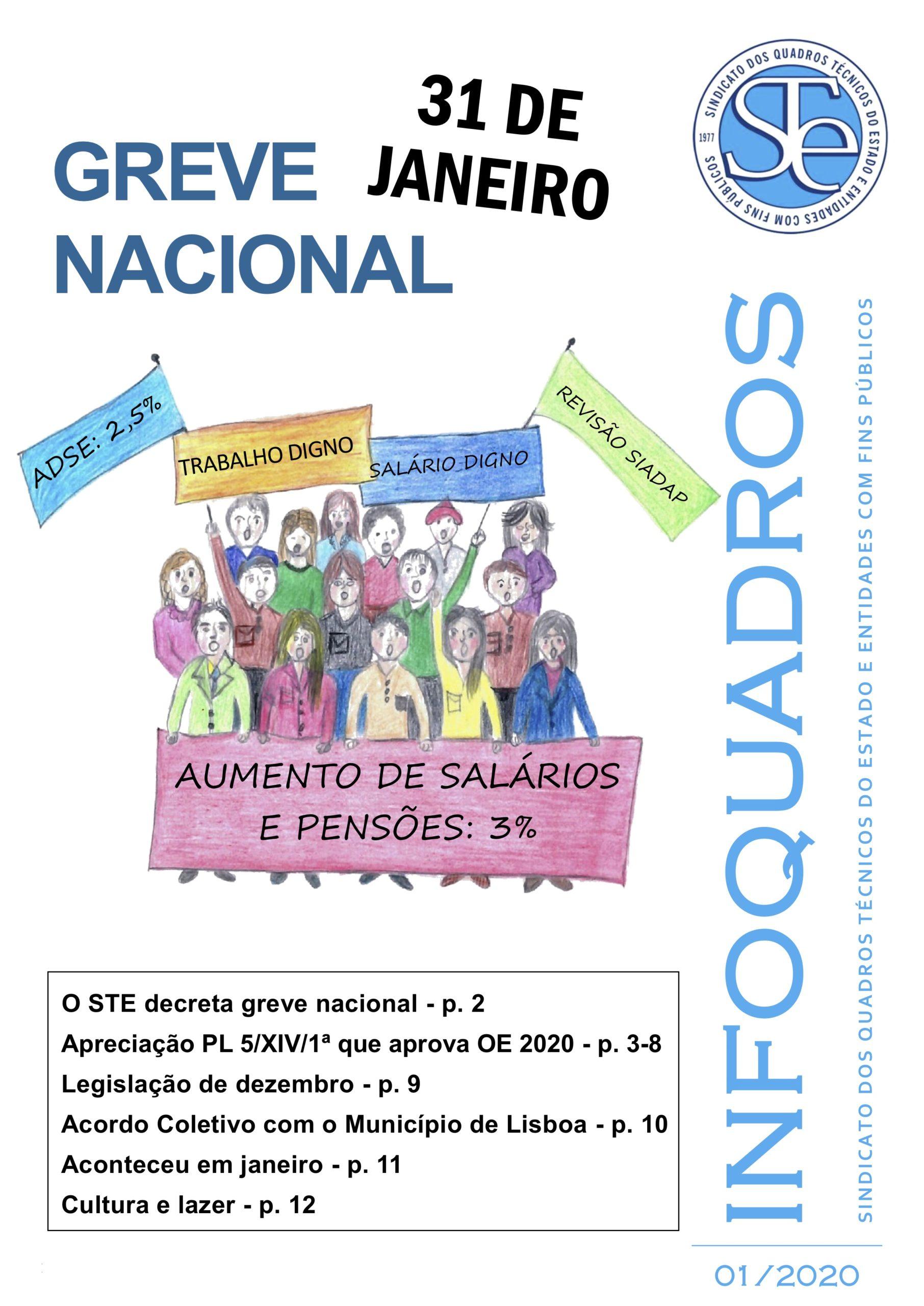 InfoQuadros Janeiro 2020