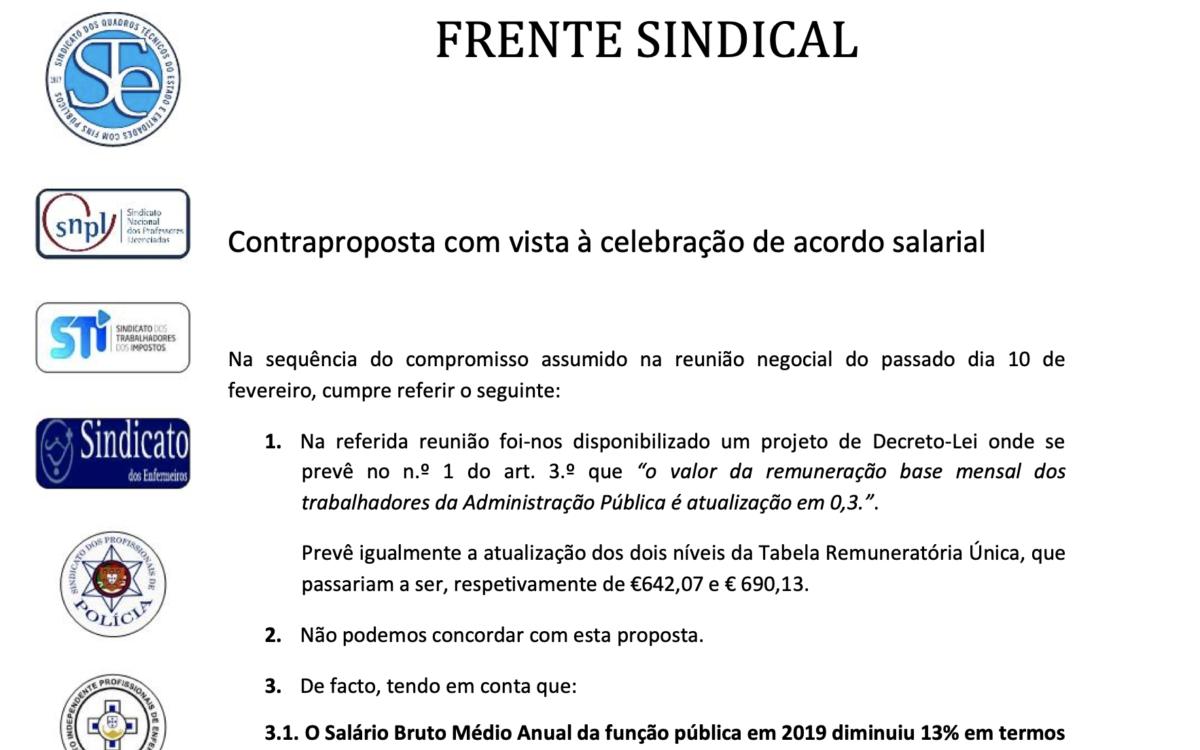 Contraproposta apresentada ao Governo em 17.02.2020