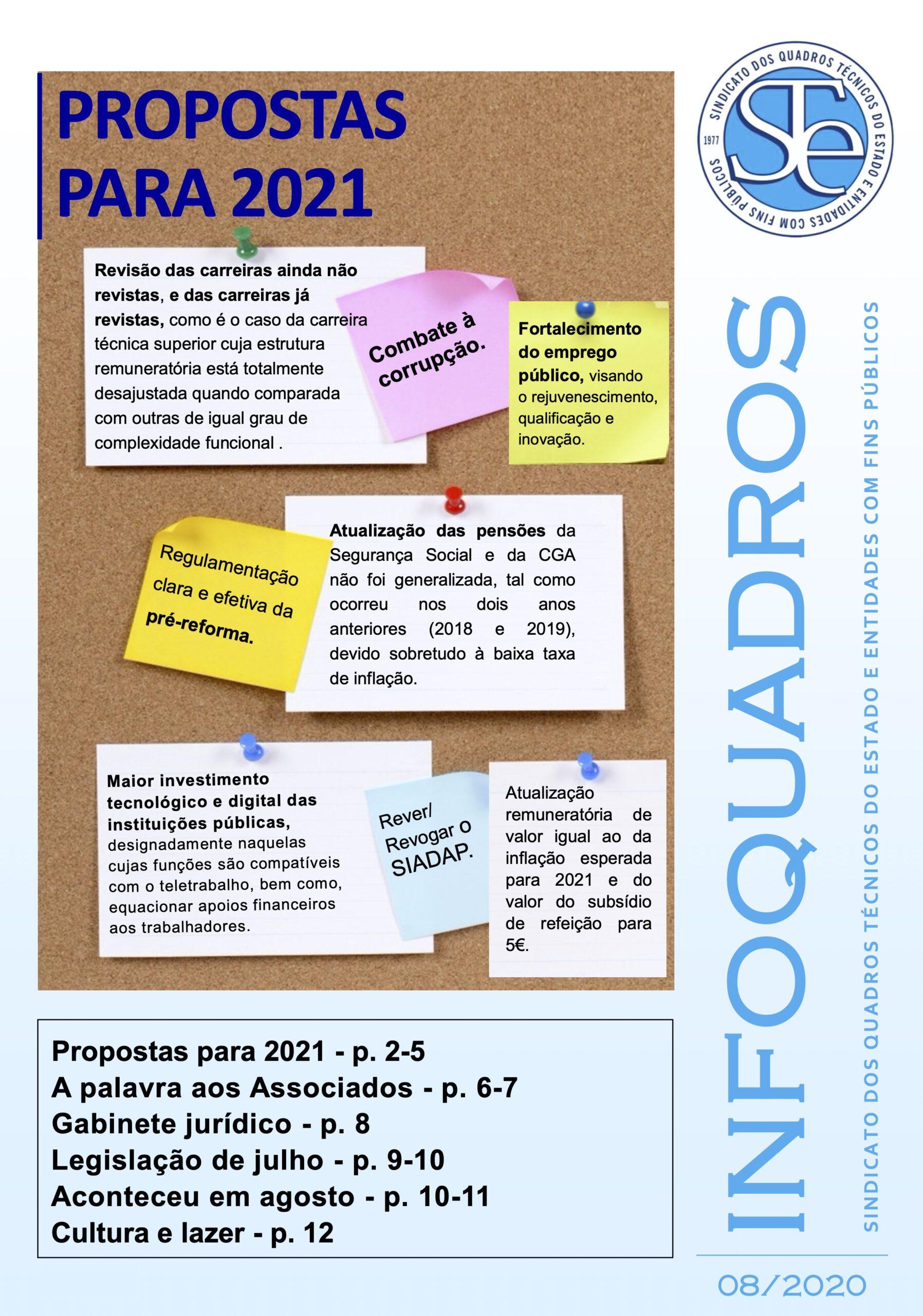 InfoQuadros Agosto 2020